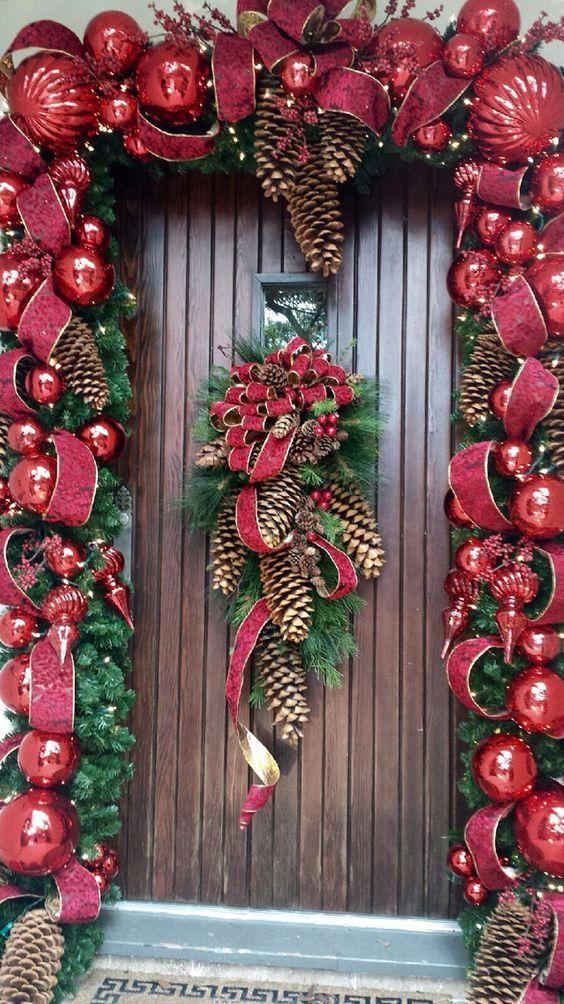 Adornos navide os para la entrada de la casa navidad - Decoraciones navidenas manualidades ...