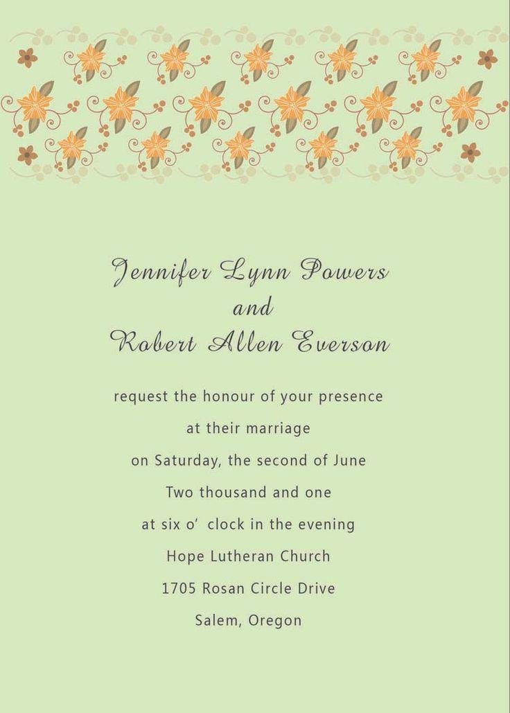 Best 25+ Unique wedding invitation wording ideas on Pinterest ...