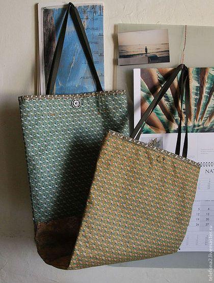 Женские сумки ручной работы. Ярмарка Мастеров - ручная работа. Купить Сумка двойная. Handmade. Хаки, лоскутная сумка