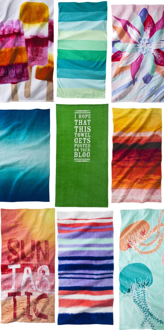 9 awesome beach towels. #TargetStyle