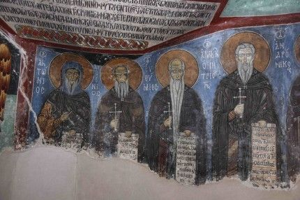 Byzantine monks used asbestos under wall paintings