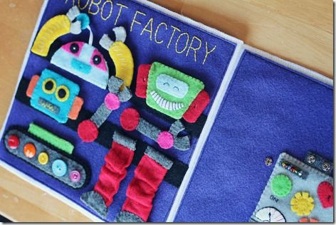 Robot Factory Quiet Book Page