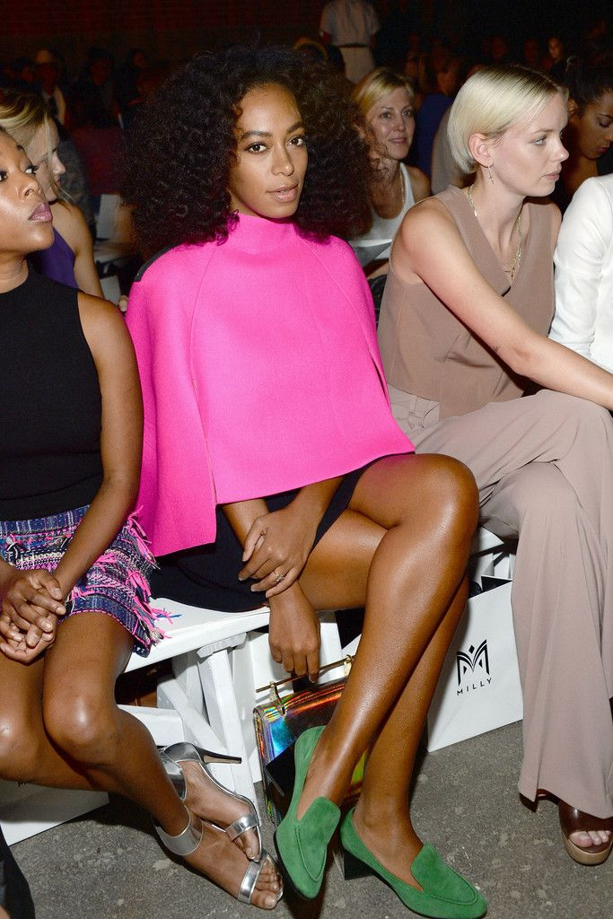 Solange Knowles at Milly By Michelle Smith Spring 2016 New York Fashion Week