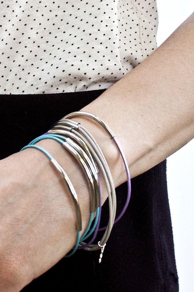 diy leather bracelet tutorial - photo #32