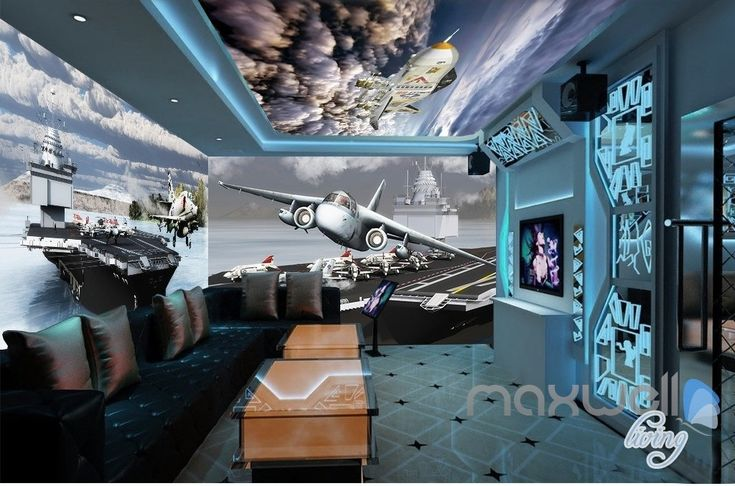 25 best ideas about 3d wall murals on pinterest tree for Cockpit wall mural