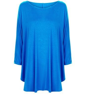 Apricot Blue Batwing Top