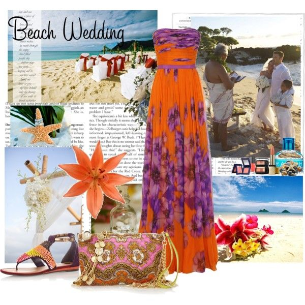 what to wear to a beach wedding, created by sandra03 on Polyvore