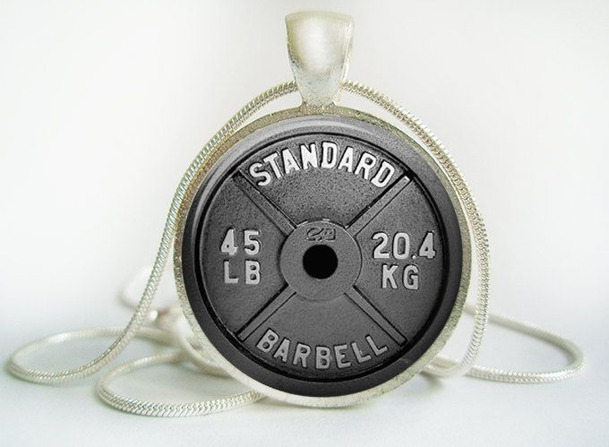 #Barbell #Weightlifting Pendant #(Antique.bronze./.Silver.tone),  View more on the LINK: http://www.zeppy.io/product/gb/3/233249256/