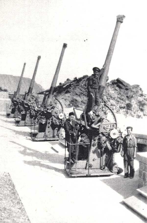 "Spain - 1936-39. - GC - Batería republicana antiaérea ""Cabo Negrete"" en Portman…"
