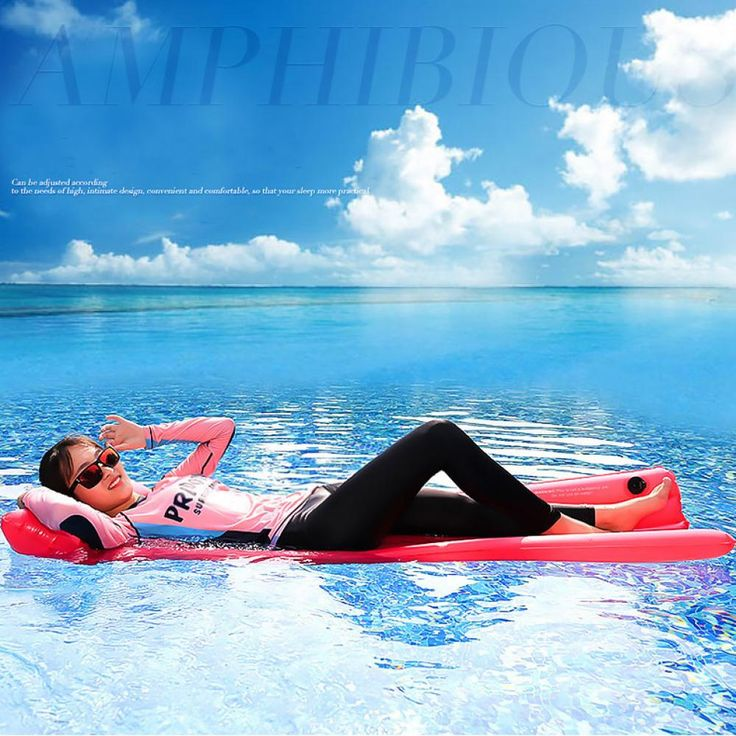 Ipree 185x70cm inflatable pvc floating row large swimming