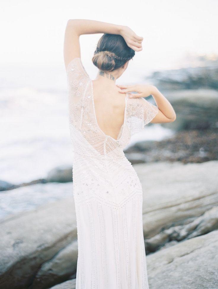 Sunrise beach bridals in Southern California   San Diego Bridal Inspiration