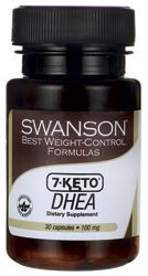 Swanson Best Weight-Control Formulas 7 Keto DHEA 100 mg 30 Caps - Swanson Health Products. i FIND IT BEST TO TAKE ONE EVERYNIGHT BEFORE BED, LIKE 3 HOURS AFTER YOUR LAST MEAL.