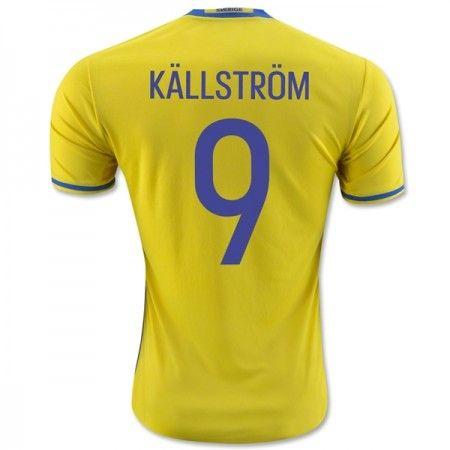 Sverige 2016 Kallstrom 9 Hjemmedrakt Kortermet.  http://www.fotballteam.com/sverige-2016-kallstrom-9-hjemmedrakt-kortermet.  #fotballdrakter