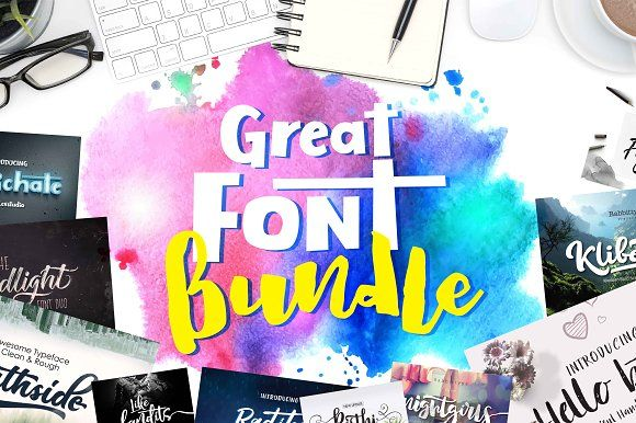 great FONT BUNDLE - 94% OFF by Olexstudio on @creativemarket