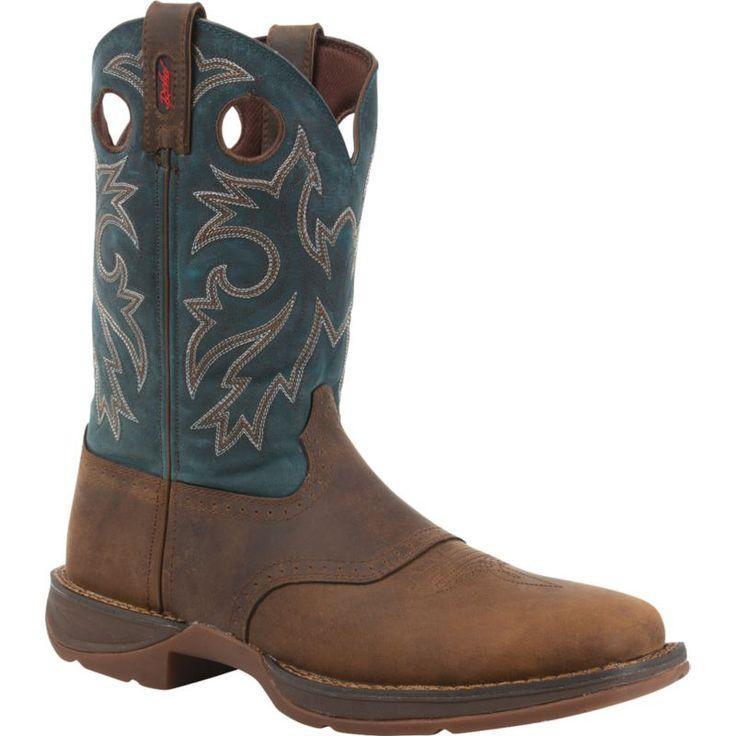 Durango Men's Rebel Pull-On Work Boots, Size: 10.0MEDIUM, Blue