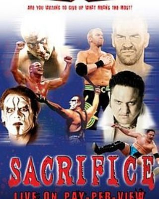"#TNA #Sacrifice2008  Tagline: ""Are You Willing To Give Up What Means The Most?"" Theme song: Sound Wave Superior by Emmure Date: May 11, 2008 Attendance: 900 Venue: TNA Impact! Zone City: Orlando, Florida  Results: Deuces Wild Tag Team Tournament Quarterfinal match- #Team3D (Brother Devon & Brother Ray) defeated #JamesStorm (w/ Jackie Moore) & #Sting (8:50)  Deuces Wild Tag Team Tournament Quarterfinal match- #ChristianCage & #Rhino defeated #BookerT & #RobertRoode (7:05)  Deuces Wild Tag…"