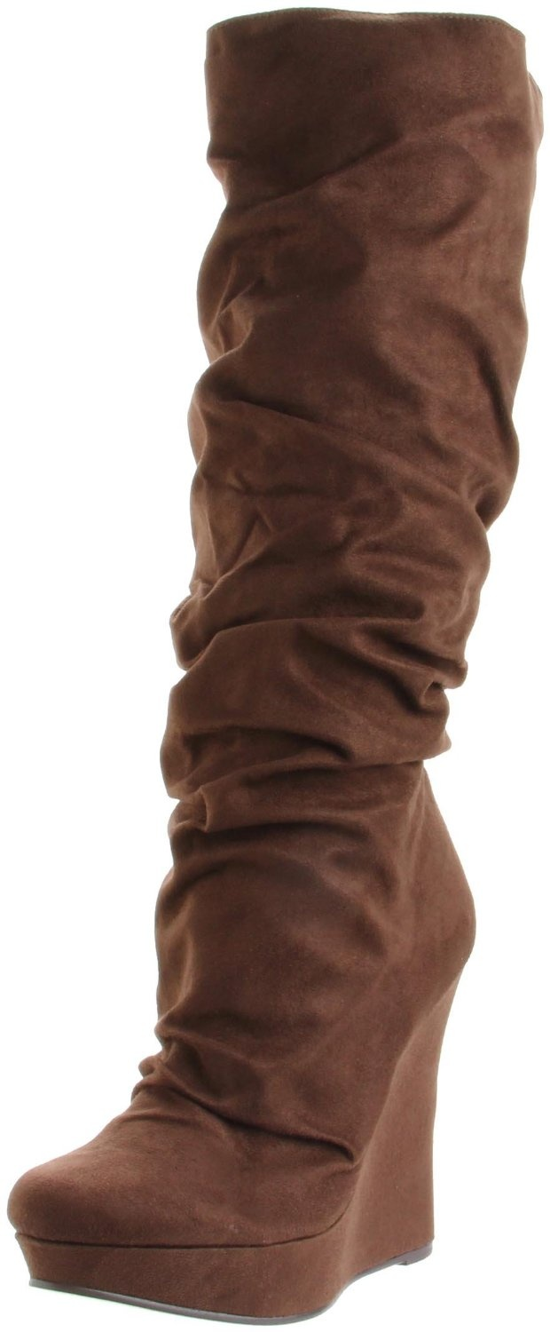 Cute! Brown wedge boots