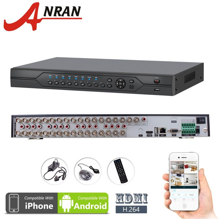 ANRAN 32 Channel DVR HDMI H.264 Realtime Full CIF Video Audio Recorder Security Surveillance CCTV DVR for CCTV Camera No Hard Drive