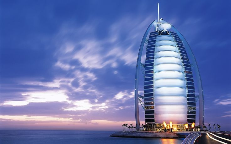 The Burj Al Arab.  When I think of Dubai, this is one of the first places I think of.  Amazing architecture!