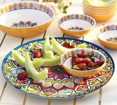 Talavera Melamine Platter #potterybarn: Potterybarn, Color, Outdoor, Dishes, Children, Pottery Barn, Serving Platters, Melamine Platter, Talavera Melamine