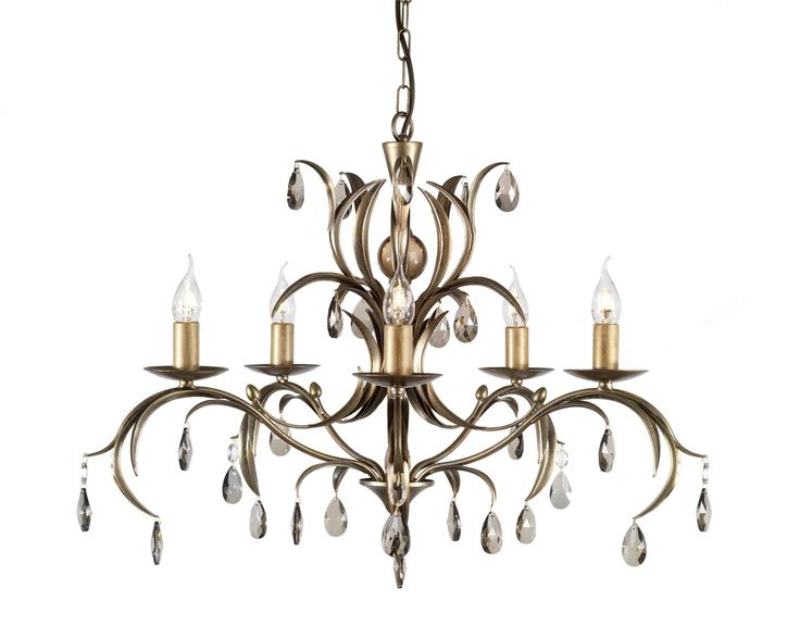 Elstead Lily 5 Arm Chandelier, £405, broughtons.com