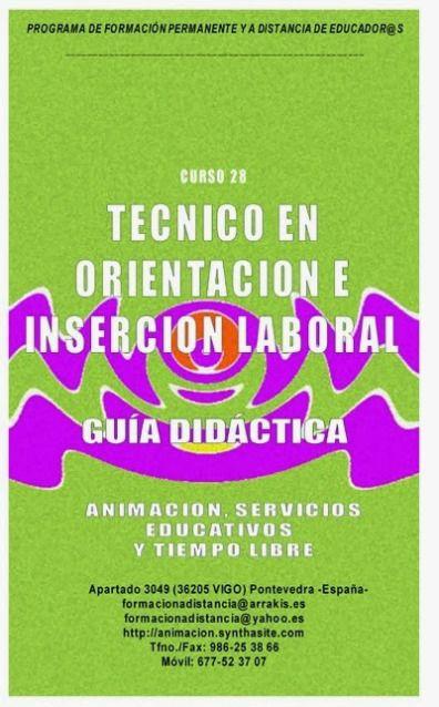 Guias Didacticas cursos a distancia orientacion laboral, violencia de genero, bullying, formacion de formadores