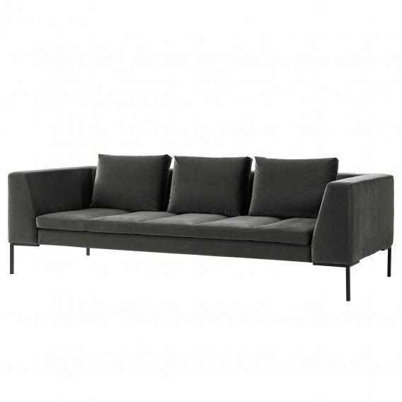 Sofa Madison 3 Sitzer Samt Kaufen Home24 Sofas Sofa Couch Mit Schlaffunktion