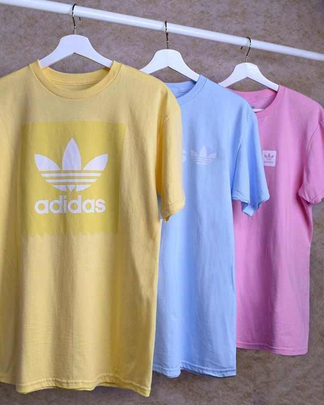 New adidas pastel tees are a no-brainer.