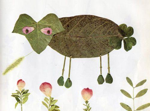 Come creare una pecora con le foglie autunnali