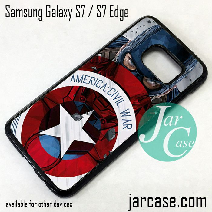 Captain America Civil War as Chris Evan Phone Case for Samsung Galaxy S7 & S7 Edge