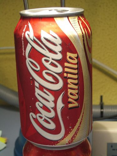 vanilla coke. i love it so much. its the only coke i drink. but they dont sell it much any more. so i buy it whenever i can !