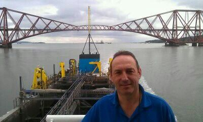 Forth rail bridge. On our way up to Grangemouth.