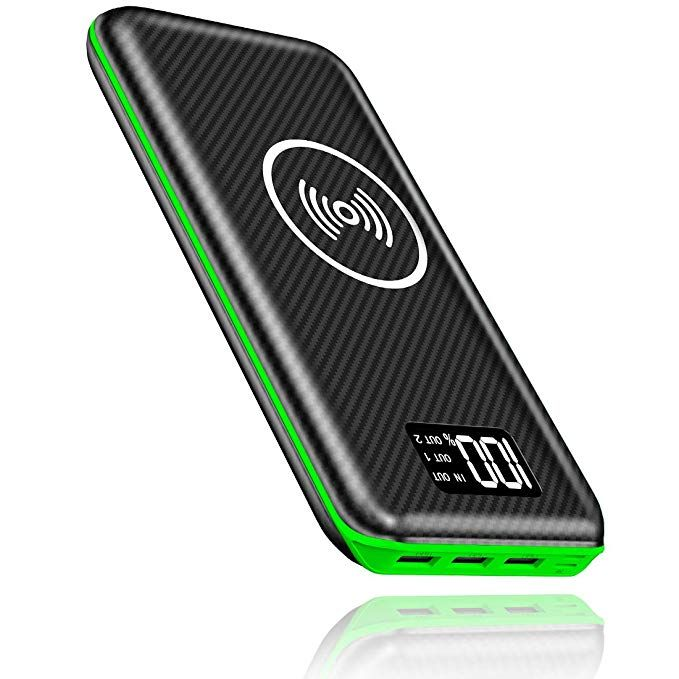 Portable Charger Power Bank Kedron 24000mah Wireless Charger With Led Digital Display And 3 Outputs Dual Inputs E Powerbank Portable Charger Wireless Charger