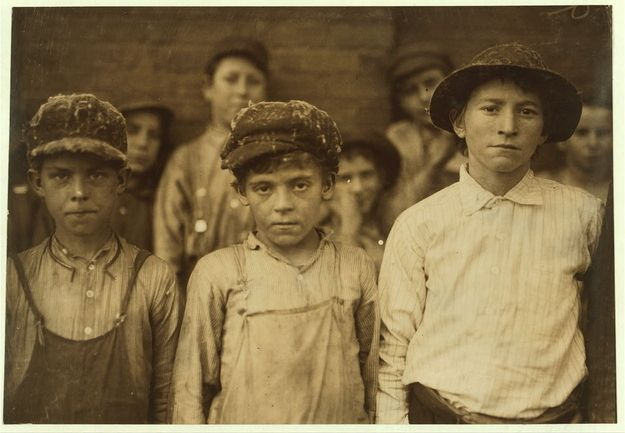 Date: November 1910. Location: Pell City, Alabama. Doffers at the Pell City Cotton Mill.
