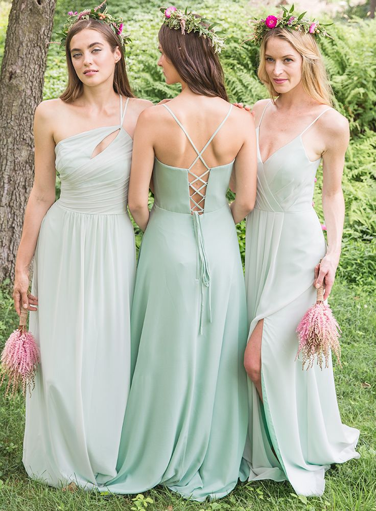 Bari Jay Bridesmaids | Bari Jay Bridesmaids Spring Summer 2017 Mint Green Bridesmaids