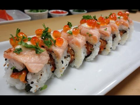 Crazy Salmon Roll - How To Make Sushi Series - Hiroyuki Terada - Diaries of a Master Sushi Chef - YouTube