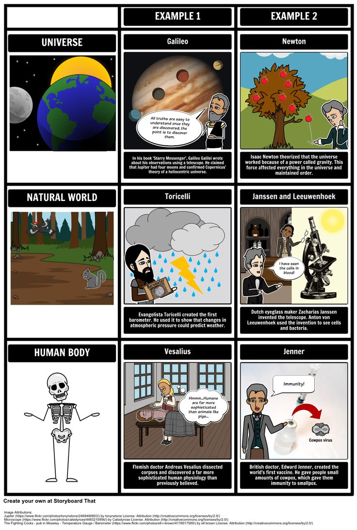 The Age of Enlightenment - Scientific Revolution Changed Views: In this activity, students will organize the concepts of the Scientific Revolution into three categories on the grid layout: Universe, Body, and Material World.