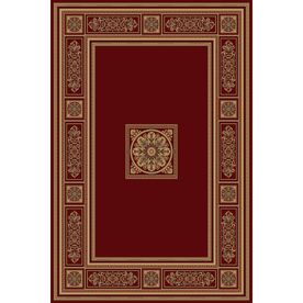 Natco�Chateaux 94-in x 118-in Rectangular Red/Pink Transitional Area Rug