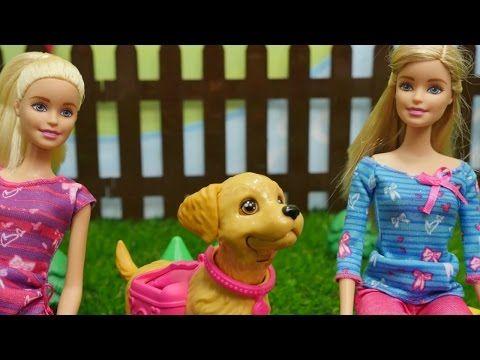 Spielspaß mit Barbie - Barbie und ihr kleiner Hund - Wir gehen Gassi - YouTube