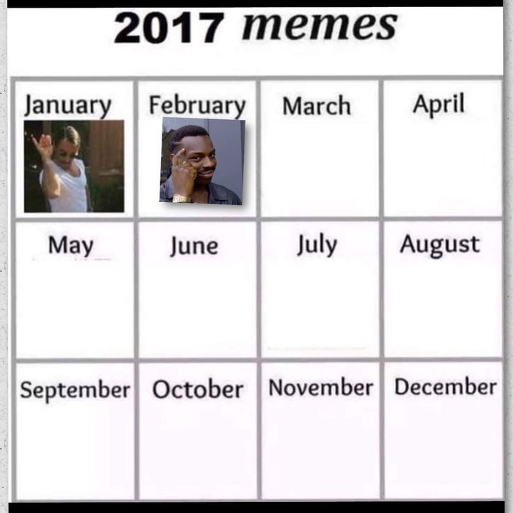 Meme Calendar vote: So I've been seing this meme calendar floating around the social media and though we should have a vote on what memes become the memes of the month. Let your voice be heard what should be the memes of jan feb and march 2017?
