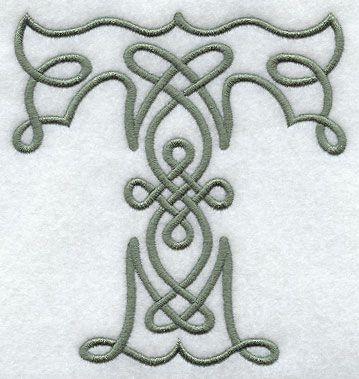 Celtic Knotwork Letter T - 5 Inch