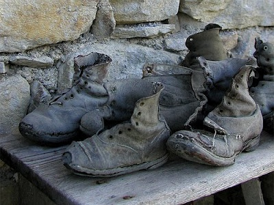 Old and worn  shoes