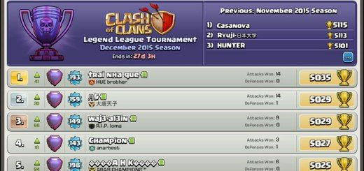 Top 10 Clash of Clans Players http://clashcrunch.com/