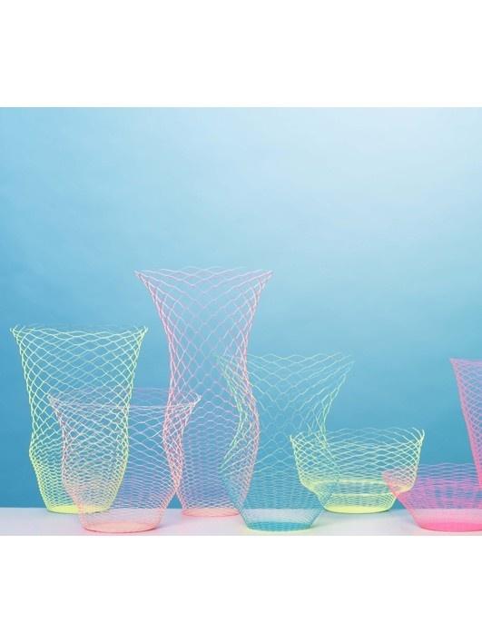 Air Vase neon geel-blauw - accessoires - I/OBJECT