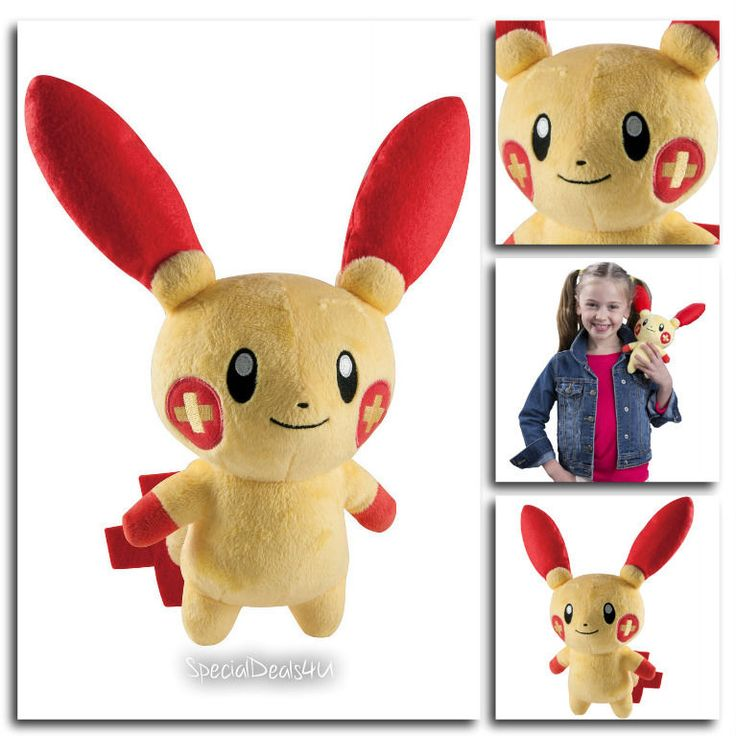 "Pokemon Plusle Doll Toy Go Plush Soft Animal Gift Picachu Cute Kids Play Plus 8"" #TOMY"