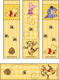 love these winnie the pooh bookmarks! ......Follow for Free 'too-neat-not-keep' literacy tools fun teaching stuff :)