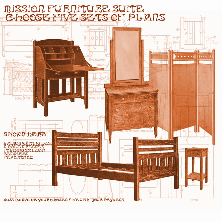 mission style furniture books 3