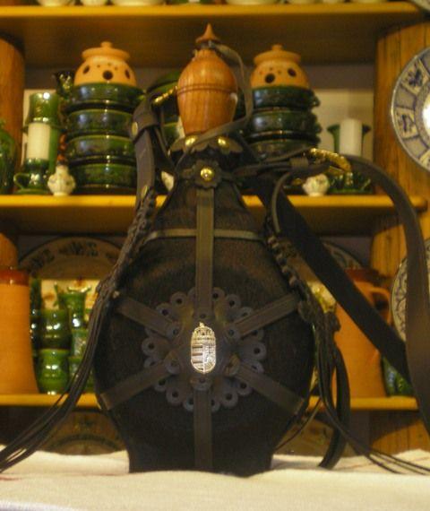 "Hungarian traditional flask - ""csikóbõrös kulacs""."