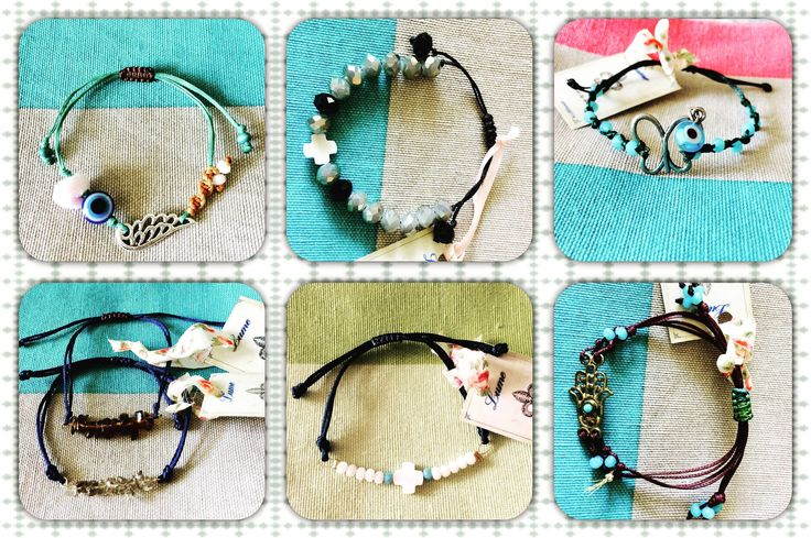 Macrame-friends bracelets with semiprecious stones