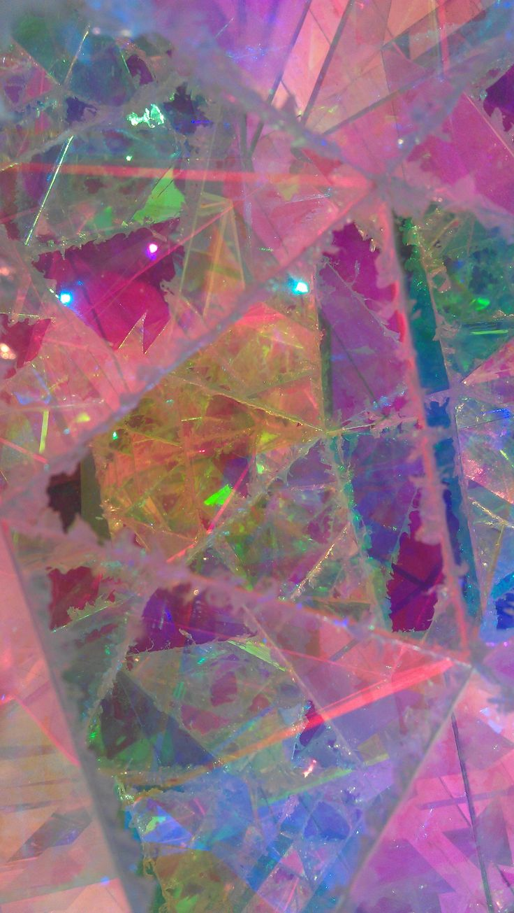 i like this..  unique.  reminds me of iridescent cellophane, crystals, cracked glass, mosaics and starry skies..